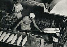 'Men baking bread - Barcelona' by Margaret Michaelis, 1936-37