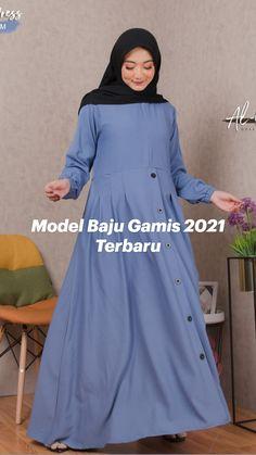 Cute Fashion, Girl Fashion, Fashion Design, Casual Hijab Outfit, Casual Outfits, Muslim Fashion, Hijab Fashion, Girls Dresses Sewing, Muslim Dress