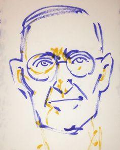 いいね!4件、コメント1件 ― @1mindrawのInstagramアカウント: 「#1mindraw #hermannhesse #ヘルマンヘッセ #18770702 #birthday #誕生日 #portrait #筆ペン画」