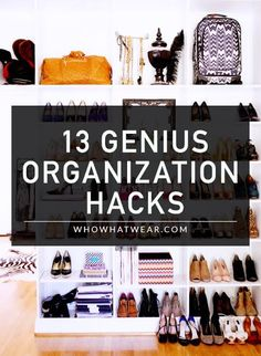 13 Organisation Hacks That Actually Work - Cleaning Hacks Home Organisation, Closet Organization, Closet Hacks, Organize Your Life, Organizing Your Home, Organization Ideas, Organizar Closet, Up House, My New Room