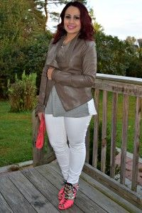 bright shoes and white jeans
