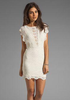 White Lace Mini Dress | Nightcap White Caletto Victorian Lace Mini Dress
