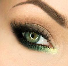Makeup Geek Eyeshadows in Appletini, Bada Bing, Corrupt, Envy, Hipster, Latte, Vanilla Bean and Yellow Brick Road. Look by: gajewska.wiktoria