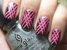 Neon Pink nail art