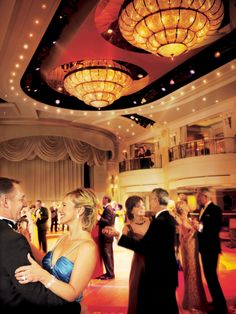 Why not dress up and go ballroom dancing in the Queens Room on board Queen Victoria?