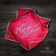 Typographic Pocket Squares by Head & Heart