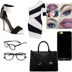 Untitled #48 by flinch552 on Polyvore featuring polyvore fashion style Kendall & Kylie Michael Kors Ray-Ban Sonix