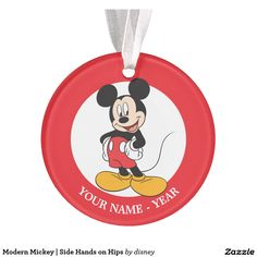 Modern Mickey   Side Hands on Hips Ornament