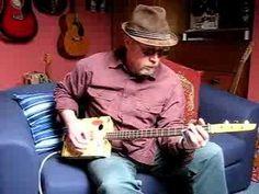 Delta blues improvisation on cigar box guitar