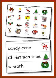 Themes :: Seasons :: Winter :: December Picture Dictionary and Word Wall Cards