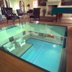 Ordinaire Seeing The Indoor Pool From The Living Room Is No Longer A Problem