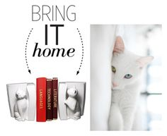 """Bring It Home: Cats Bookend Set"" by polyvore-editorial ❤ liked on Polyvore featuring interior, interiors, interior design, dom, home decor, interior decorating, Danya B i bringithome"