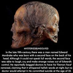 Bizarre Stories, Bizarre Facts, Weird Facts, Fun Facts, Random Facts, Random Stuff, Edward Mordrake, Spy Names, Nephilim Giants