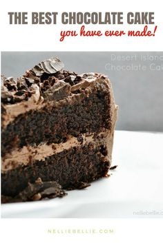 the best homemade chocolate cake you'll ever make! Easy, simple, and moist. Never make a cake from the box, again!