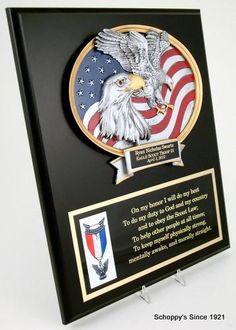 Scout Motto Eagle Plaque-Plaque-Schoppy's Since 1921