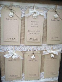 Suitcase Seating Plan Vintage Wedding Table