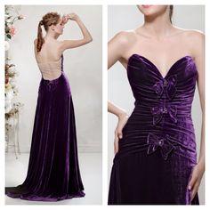 "Open Back Velvet Dress, from Papilio ""Flower Cocktail"" Fashion Collection - www.facebook.com/papilioboutique"