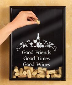 Amazon.com - Good Wines Cork Holder Wall Frame Decoration -
