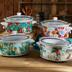 the pioneer woman just released an adorable collection of slow cookers