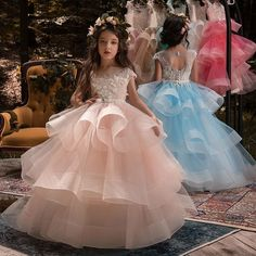 Cheap girls princess dress, Buy Quality little girl princess dresses directly from China dresses for girls Suppliers: New Arrival Little Girls Luxury Lace Applique Holy First Communion Dresses for Girls Floor Length Open Back Girls Princess Dress Glitz Pageant Dresses, Little Girl Pageant Dresses, Quinceanera Dresses, Girls Dresses, Flower Girl Dresses, Flower Girls, Princess Dresses, Ball Dresses, Ball Gowns