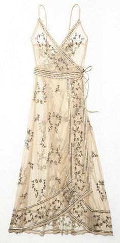 Sky Fall Embellished Maxi. Beautiful white/cream colored embellished dress.