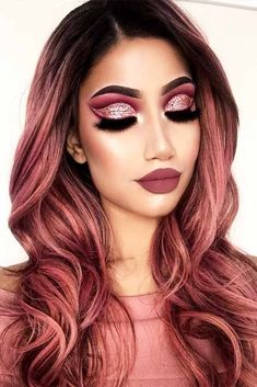 21 Breathtaking Rose Gold Hair Ideas You Will Fall in Love With Instantly ★ Dark Shades of Rose Gold Hair Picture 2 ★ See more: http://glaminati.com/rose-gold-hair/ #rosegoldhair #rosegoldhairstyle