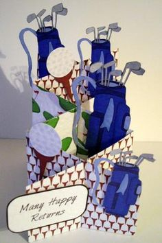 Card Gallery - Male Golf Cascade Card Kit  Card made by Dianne Jackson