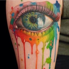 extreme pop art tattooing VERY RRALISTIC