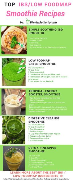 Guide to Low FODMAP smoothies and favorite ingredients. Top 5 Smoothies for IBS sufferers to help support and improve healthy digestion. Detox Juice Recipes, Green Smoothie Recipes, Cleanse Recipes, Smoothie Diet, Juice Cleanse, Cleanse Detox, Ninja Smoothie Recipes, Nutribullet Recipes, Juicer Recipes
