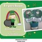 Leprechaun on a Stick writing center - St. Patrick's Day Writing Prompts