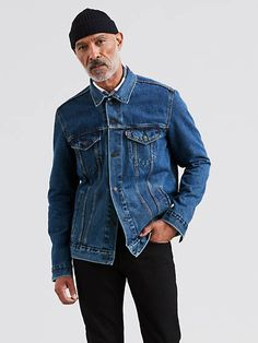 718b16c3e34 BlueDenim Jackets - Denim jackets in blue Trucker Jacket Blue Denim Jacket  Outfit