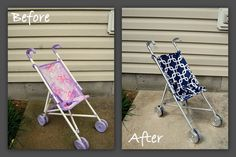 Done is Better than Perfect: Christmas 2012: Stroller makeover!