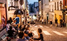 Casual nightlife in the streets of Paris.  Photo by Michael Victor. www.michaelvictorportraits.com