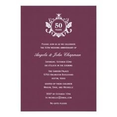 Floral Charm Anniversary or Birthday Invitation - Invitations