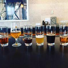 Stop three: Beer tasting line-up at the amazing @boulevard_beer...