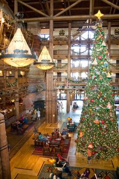 Christmas at Wilderness Lodge - Main Lobby
