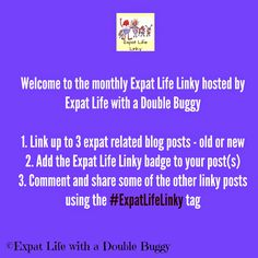 Expat Life With a Double Buggy: join the #ExpatLifeLinky every second Wednesday of the month