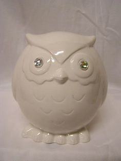 Jeweled Baby Owl Bank by whitedovecrafts on Etsy, $7.50  Baby Owl is all dressed up with his sparkling eyes.  He is ready to fly into your heart & home.  Makes a great baby shower gift.