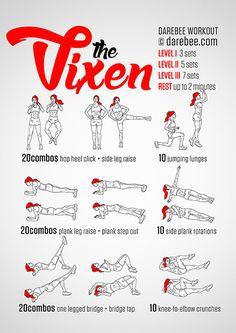 Vixen Workout Darebee.com/workouts.html