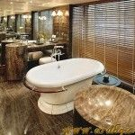 Oriental Bathroom Combines Modern and Natural 150x150 12+ Modern living room ideas
