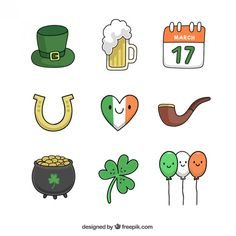 Pot Of Gold Image, Drawing Down The Moon, Saint Patricks Day Art, San Patrick, Royal Icing Decorations, Rock Crafts, Bullet Journal Inspiration, Figure Drawing, Cute Drawings