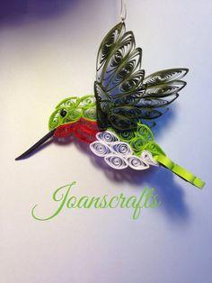 Hummingbird in flight by joanscrafts on Etsy