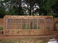 An Enclosed Garden--she may mean it to keep critters out, but what a great turkey run!