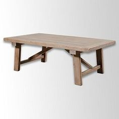 West Elm Wooden Truss Coffee Table