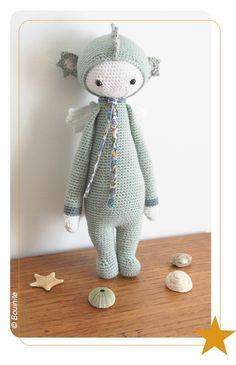 DIRK the dragon made by Bouinite / crochet pattern by lalylala