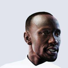 Deng Thiak Adut by Nick Stathopoulus in the Black Swan Prize 2017 Black Swan, Portrait, Fictional Characters, Art, Art Background, Men Portrait, Kunst, Gcse Art, Paintings