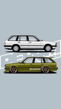 Car Illustration, Mini Trucks, Bmw E30, Hot Wheels Cars, Car Drawings, Automotive Art, Bmw Cars, Sexy Cars, Cars And Motorcycles