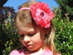 Beautiful Hot Pink Flower Headband for Girls  by EmmaLaRueDesigns, $15.00