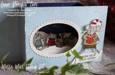 Pinkies Stampin' Up! Autumn Winter 2016 Blog Hop - Merry Mice watercolour shadow…