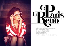 Paris Retro, Fashion Editorial by Sandra Fourqui